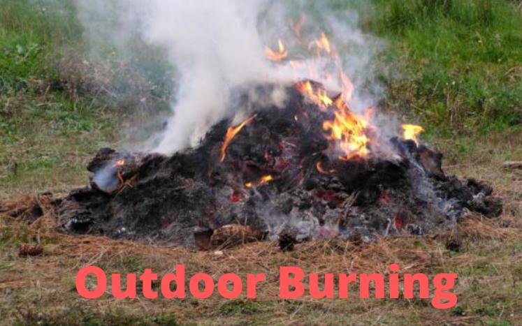 Outdoor Burning Prohibited